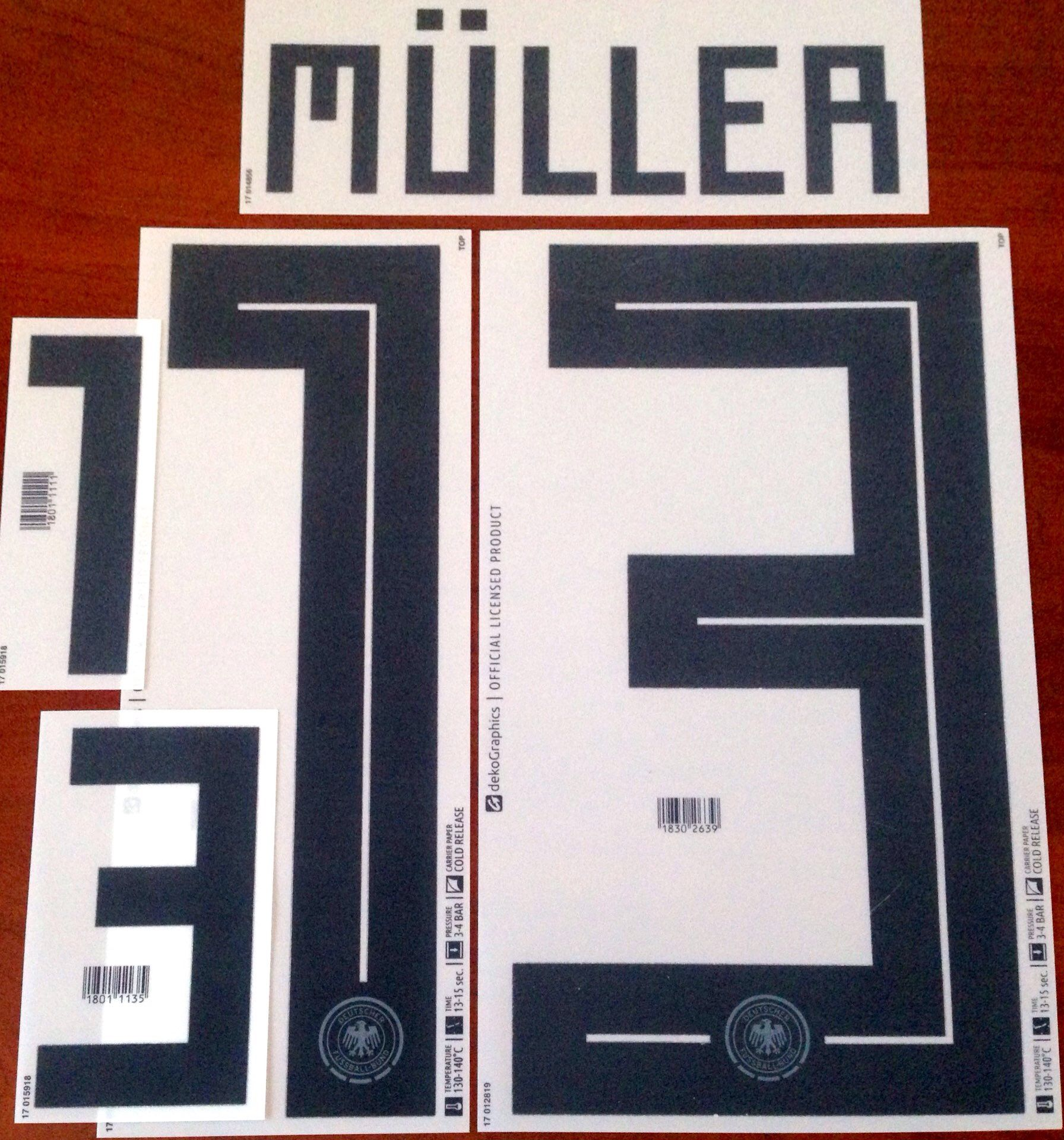 fa83c6a1d Germany WORLD CUP 2018 Home Shirt 2018-19 MULLER 13 Adidas DEKOGRAPHICS  Football Name